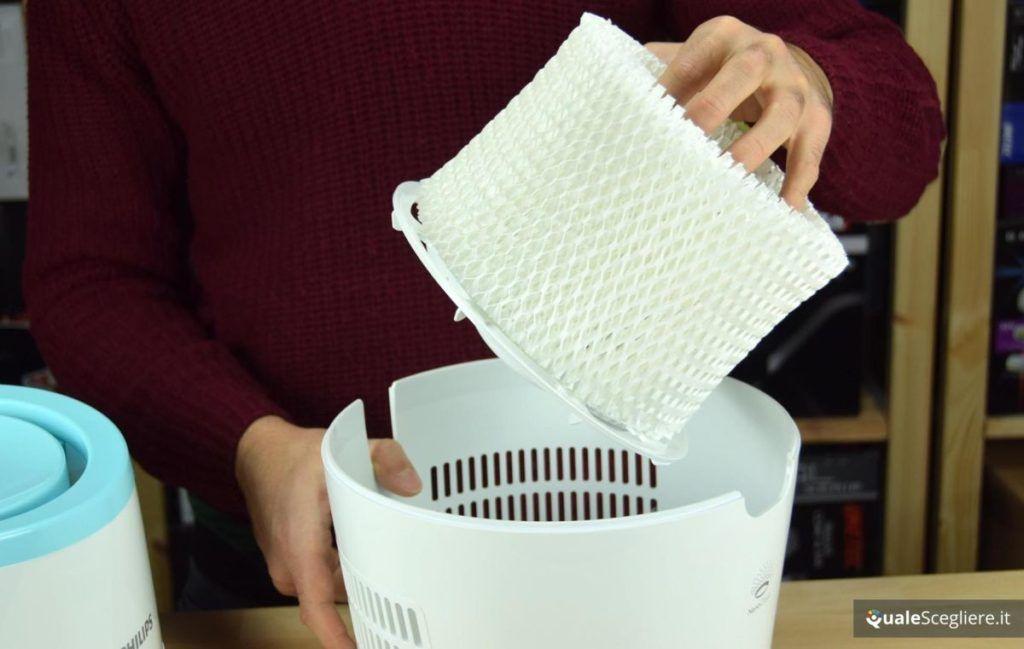 Umidificatore a evaporazione filtro nido d'ape