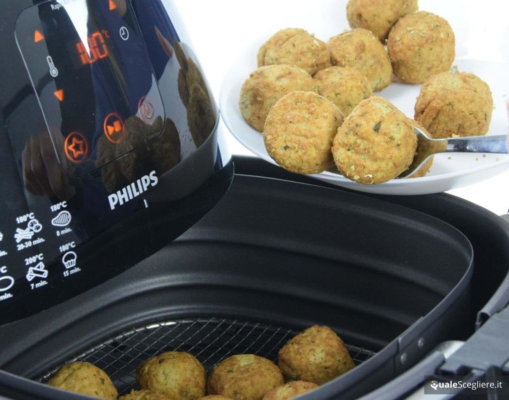 Philips HD924090 Airfryer XL Avance Collection polpette nel cestello