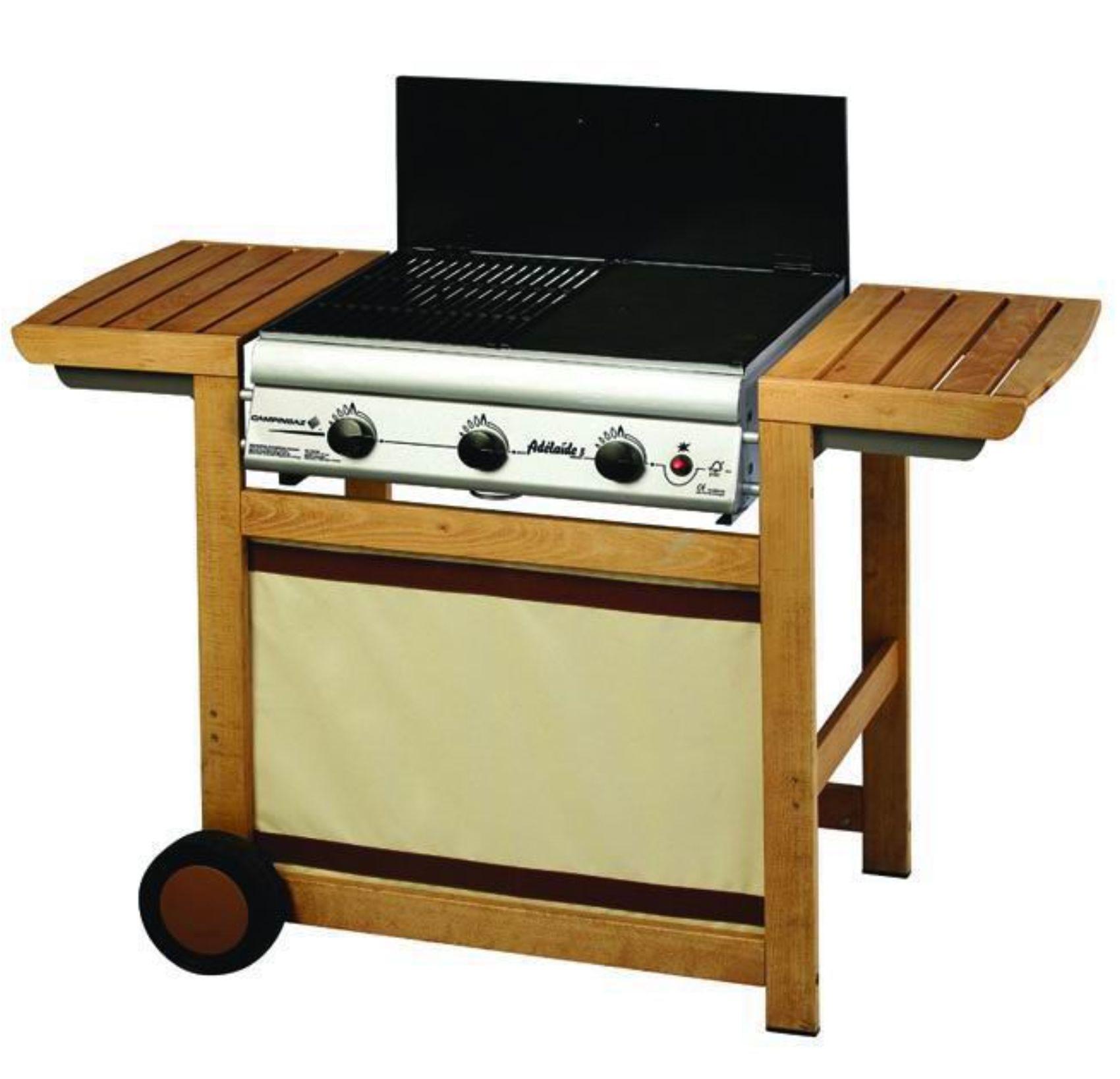 Recensione campingaz adelaide 3 woody for Copertura per barbecue a gas