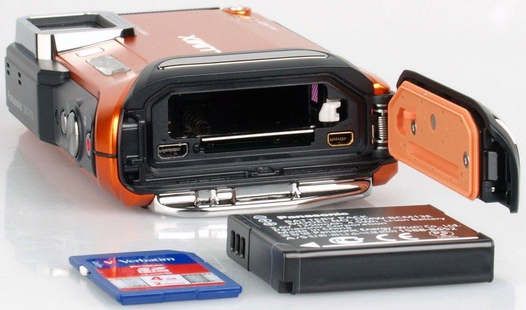 """""""Panasonic Lumix DMC-FT5"""" baterijų skyrius"""