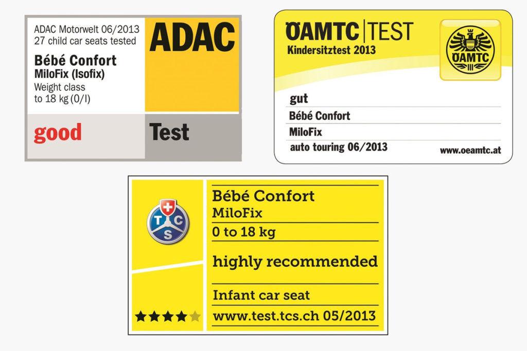 Bébé Confort Milofix certificazioni
