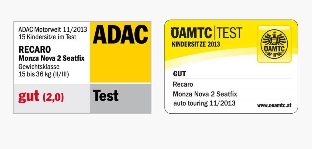 Recaro Monza Nova 2 Seatfix test e riconoscimenti