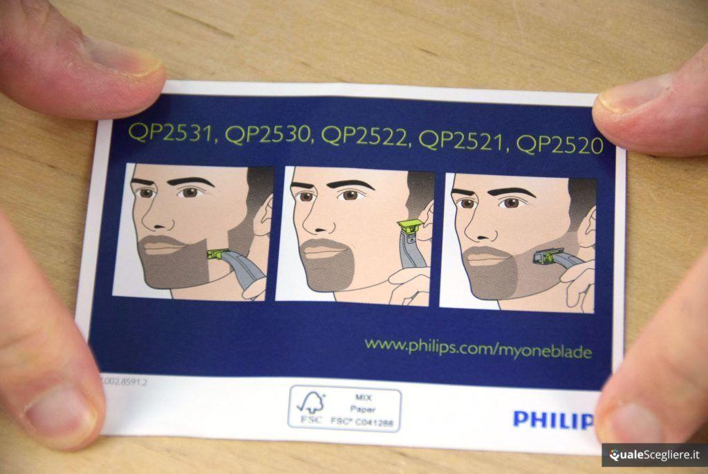 Philips OneBlade QP2520/25 utilizzo