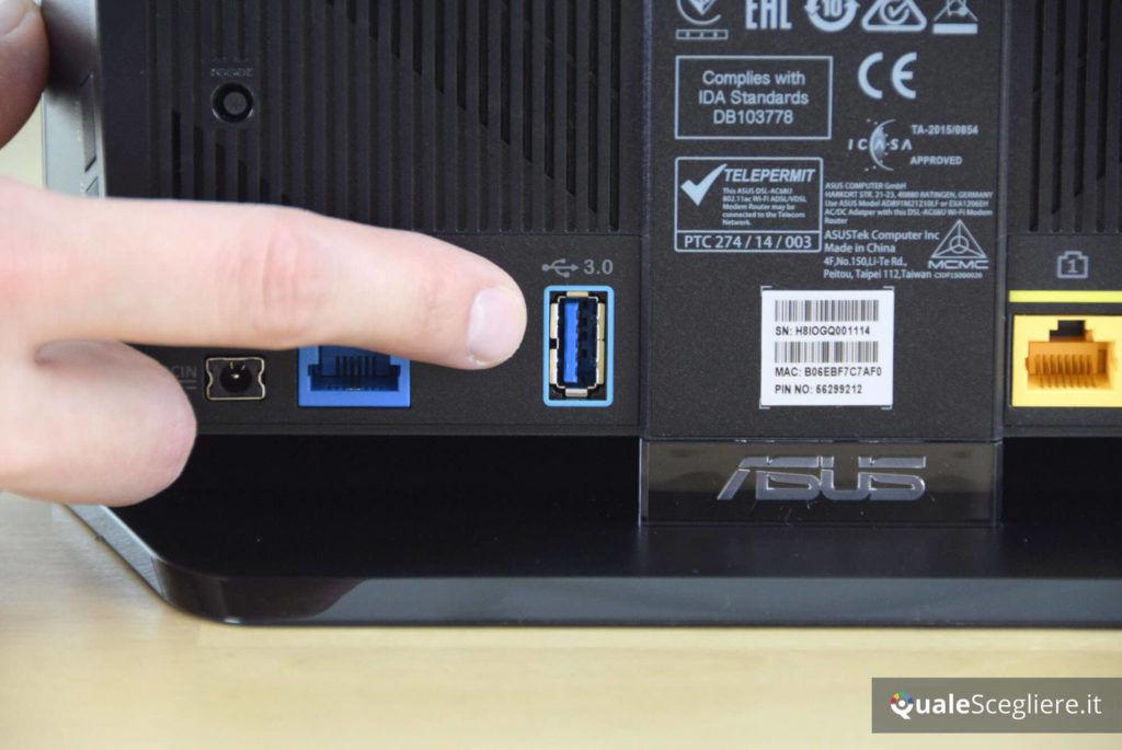 Asus DSL-AC68U USB