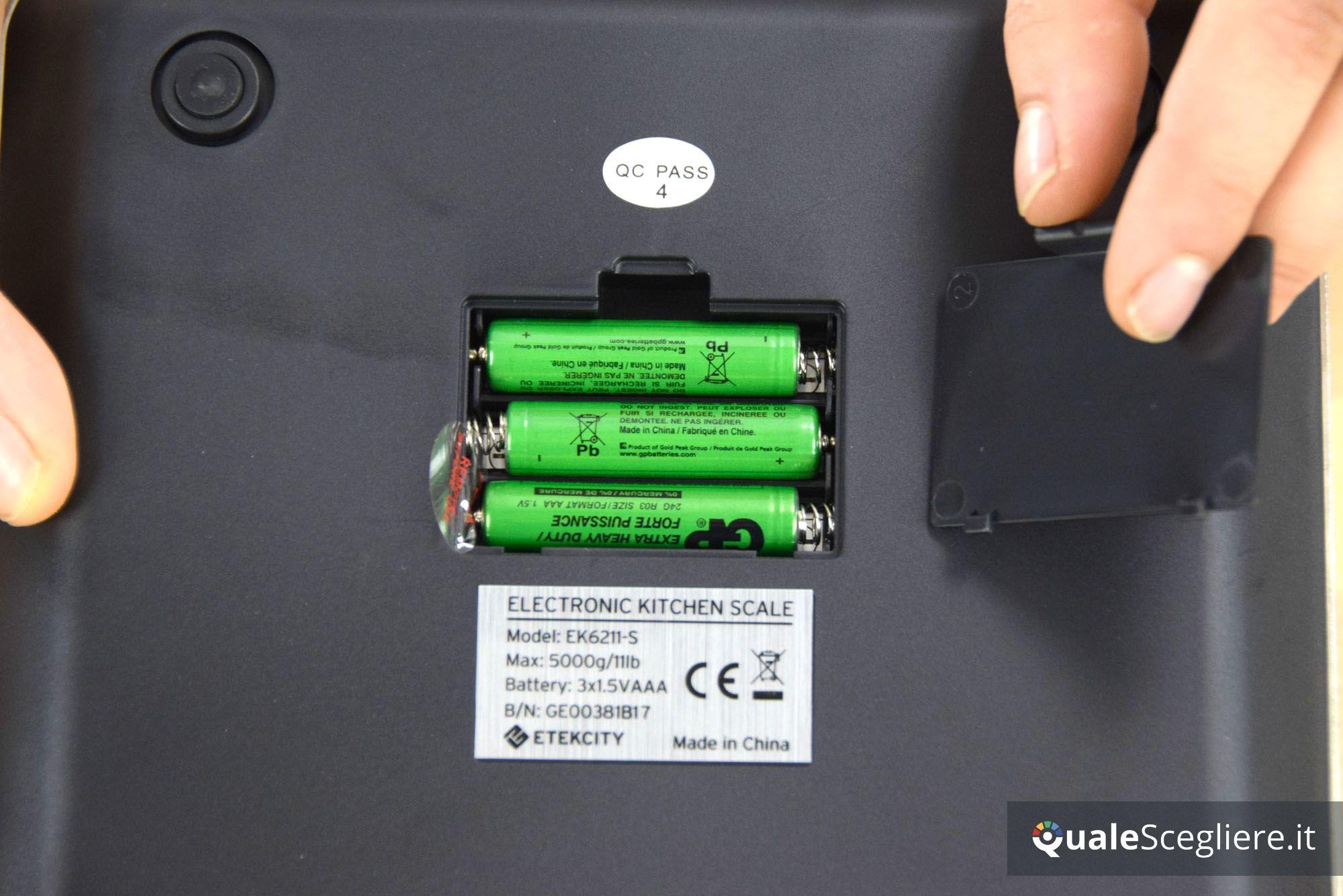 Etekcity EK6211-S batterie