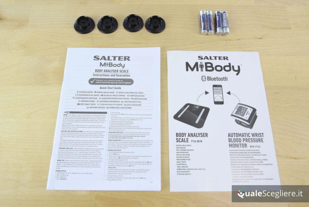 Salter 9154 3R accessori in dotazione