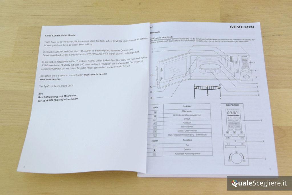 Severin MW 9675 libretto istruzioni