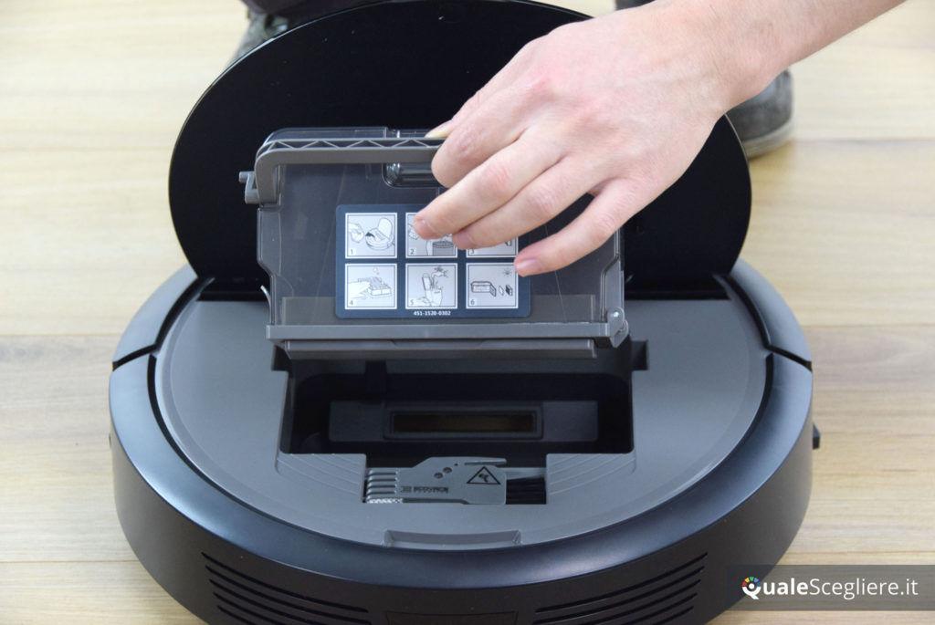 Ecovacs Robotics Deebot N78D rimozione serbatoio