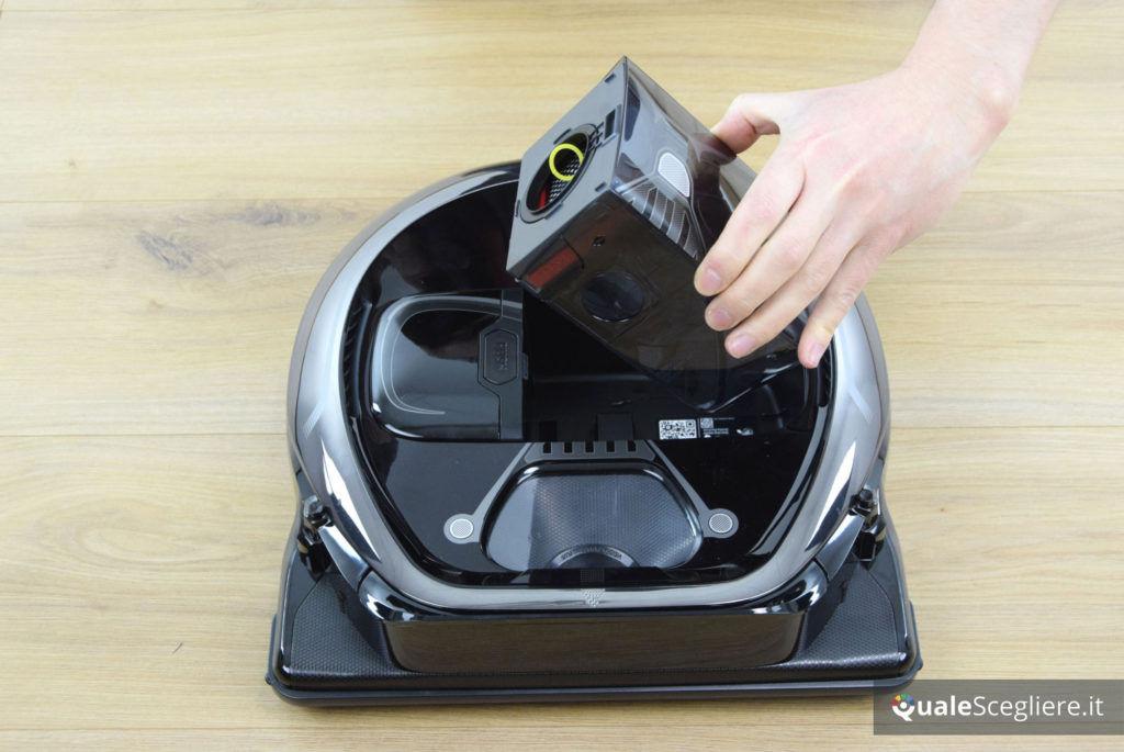 Samsung Powerbot VR7000 Star Wars Special Edition rimozione serbatoio