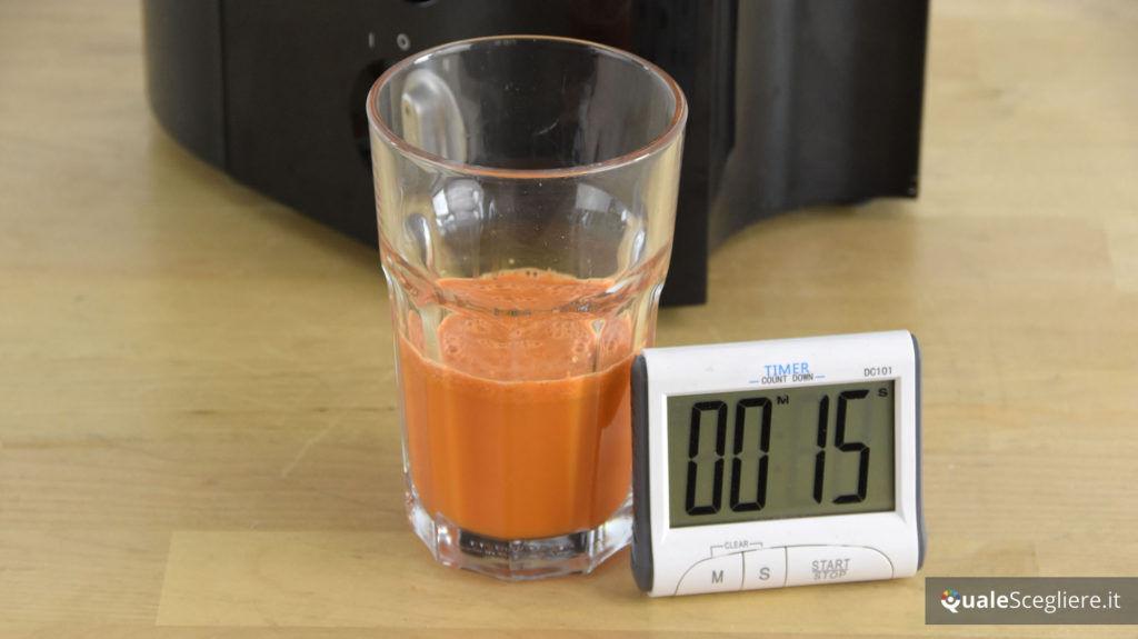 Braun Multiquick 5 J500 succo di carote ottenuto