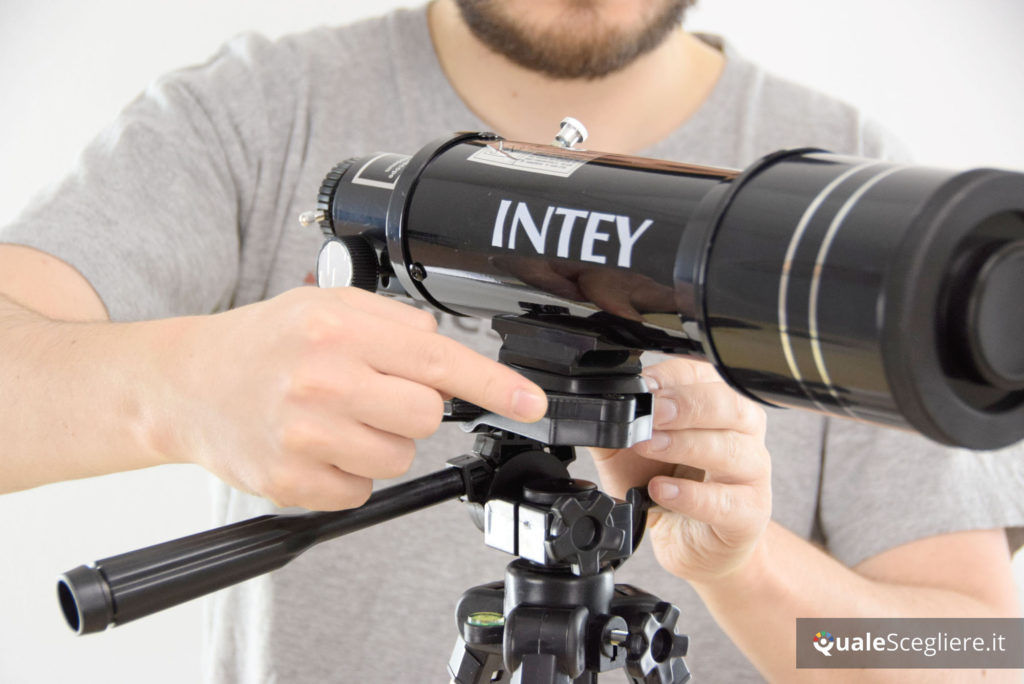 Intey F40070M fissaggio telescopio al treppiede