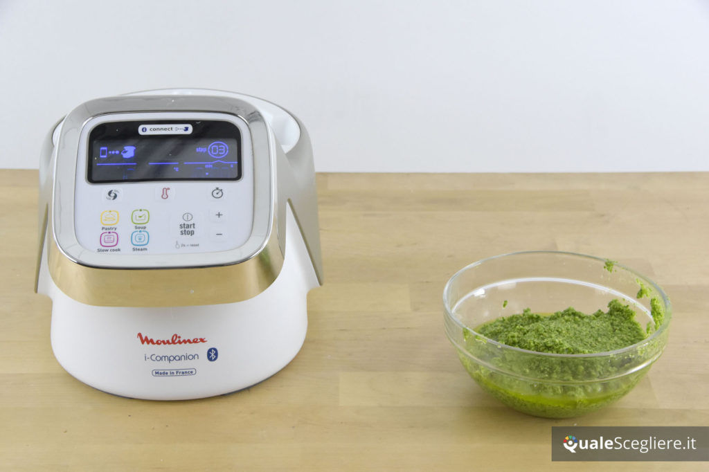 Moulinex I-Companion pesto ottenuto