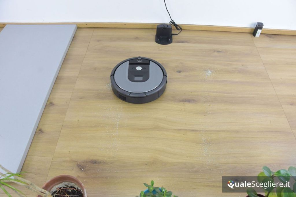 iRobot Roomba 960 aspirazione