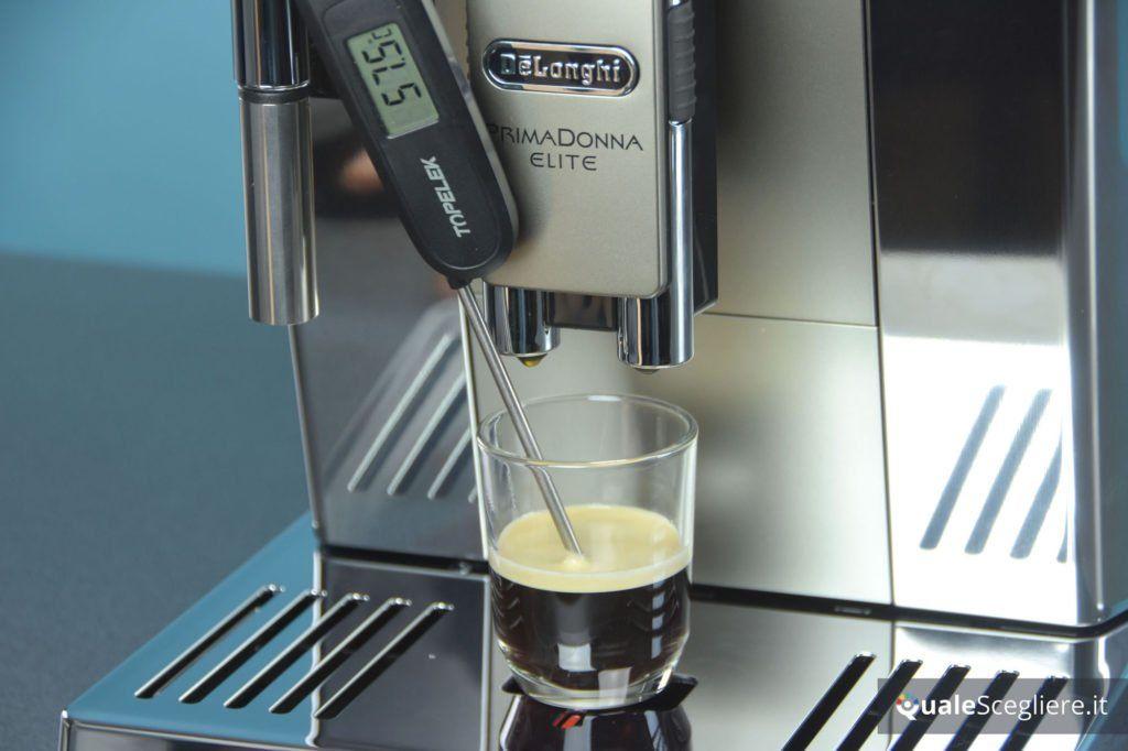 De'Longhi PrimaDonna Elite ECAM650.55.MS temperatura caffè