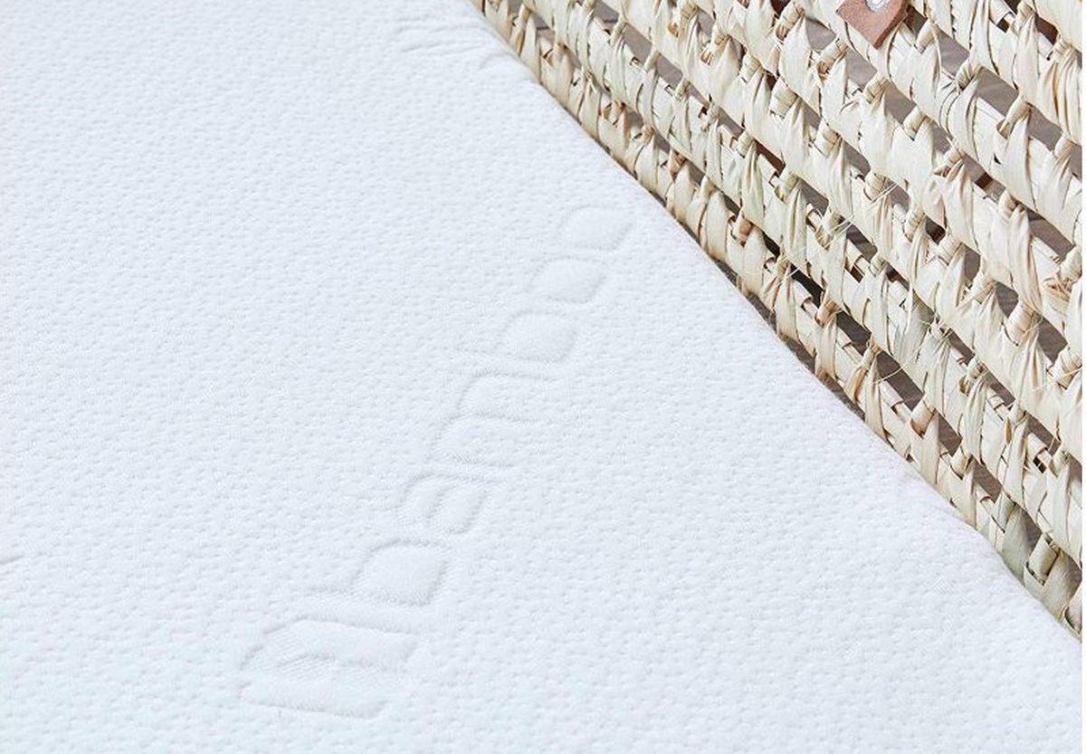 Aero Materasso per culla navicella Dimensione:Aero 70x37 cm letto bambino materasso per neonati e per bambini lettino carrozzina BestCare/® materasso estate inverno in Aloe Vera
