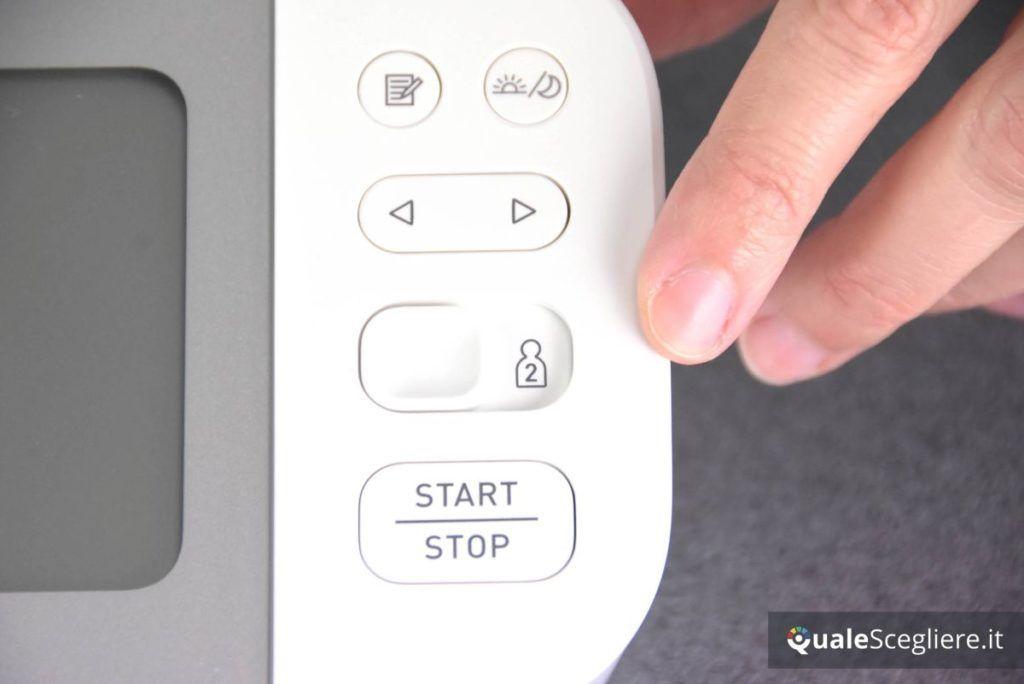 Omron X7 Smart selezione utente