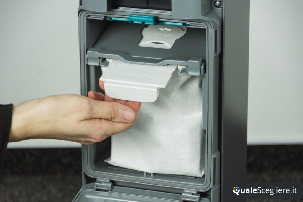 Samsung Jet 90 Premium estrazione sacchetto