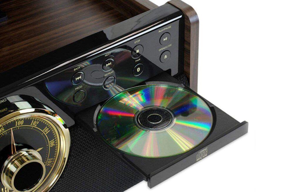 Derlinis patefono kompaktinių diskų grotuvas
