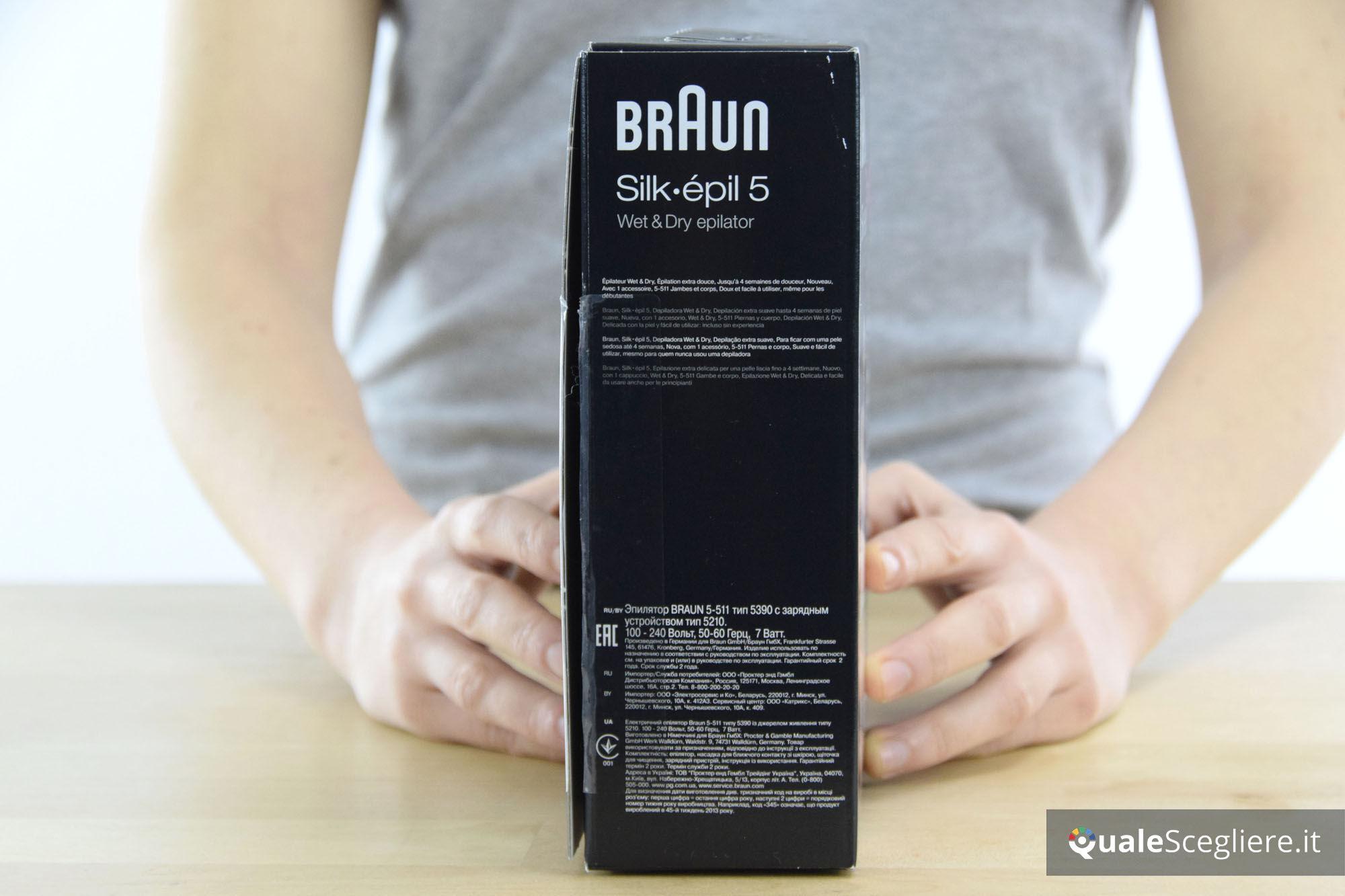Epilatore Braun Silk-Epil 5 5-511 umidificatore a secco